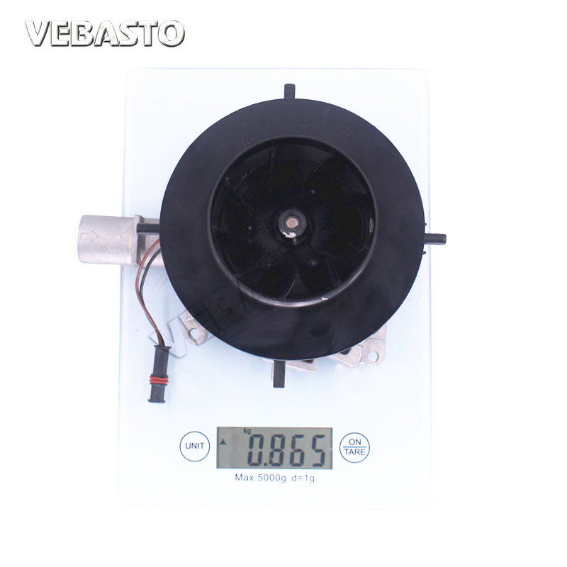 seelive Blower Motor for Parking Heater Big Leaf Assembly Combustion Air Fan Compatible with Eberspacher D4 2KW 5KW 12V 24V Air Diesel Truck Auto Parts Diameter 25mm 0.98